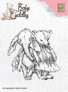 Clear stamp Baby Cuddles Cuddly friends   per stuk