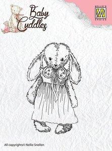 Clear stamp Baby Cuddles Cuddly girl   per stuk