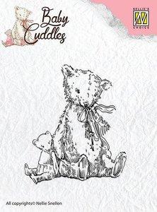 Clear stamp Baby Cuddles Teddybears   per stuk