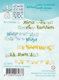 Clear stamp Christmas & New Year greetings p/st