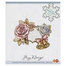 Clear stamp en klokken frame  per stuk roze