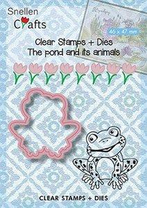 Clear stamp en Stans The pond kikker 46 x 47 mm per stuk