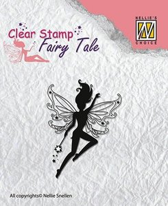 Clear stamp Fairy Tale nr 4  per stuk