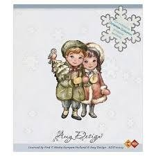 Clear stamp kerst koppel  per stuk