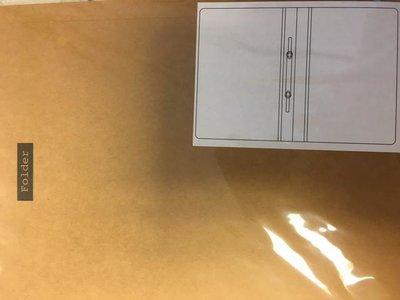 Dossier/folder map A4 + A4 per stuk kraft