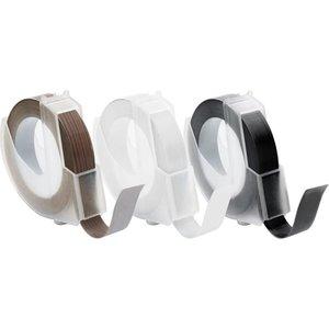 Emboss Tape Rolls smal 0.95 x 30 cm inhoud 3 stuks