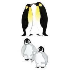 Stickers 3 D embellishment pinguins 11 x 4.5 cm per vel