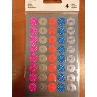 Stickers fluor label rondjes 1.5 cm inhoud 40 stuks fluor