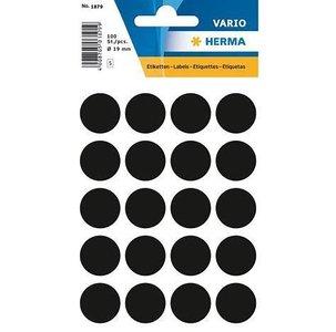 Stickers rond 19 mm per 100 stuks zwart