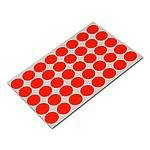 Stickers rood 19mm p/1280st op vel