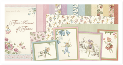 Totaalset 17-delig Four Seasons of Fairies 30.5 x 30.5 cm per set