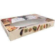 Doos catering met venster 35x24.5x7.6cm p/st