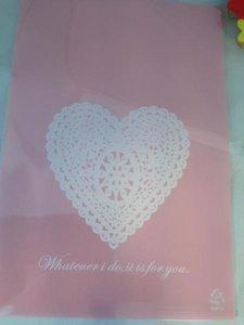 Zakken PP hart en tekst p/10st roze