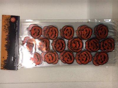 Zakken PP 12.5x29cm p/10st oranje/zwart halloween