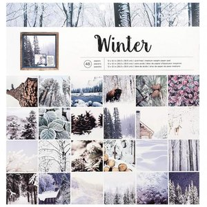 Paper pad photo real winter 30.5x30.5 p/48vel