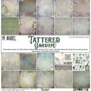 Paper pad Tattered Garden 30.5x30.5cm p/set