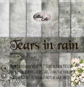 Paper pad Tears in Rain 30.5x30.5cm p/12vel