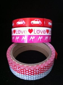 Tape pvc 15mm p/33mtr bambi roze