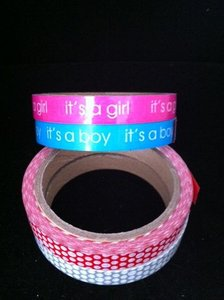 Tape pvc 15mm p/33mtr its a girl roze