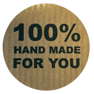 Stickers 100% handmade for you 3.5cm p/20st kraft