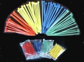 Kabelbinders 140 mm inhoud 100 stuks geel