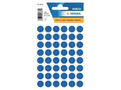 Stickers Herma Rond 12mm p/240st donkerblauw