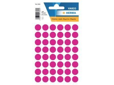Stickers Herma Rond 12mm p/240st roze