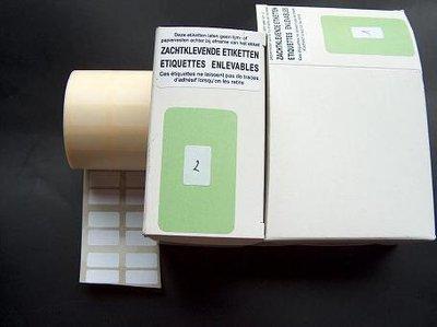 Stickers afneembaar nr2 20x10mm p/1600st