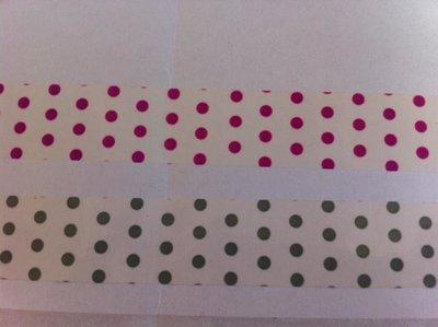PVC Tape bedrukt stip 19mm p/66mtr wit
