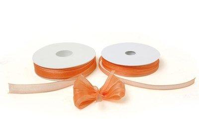 Lint organza 7mm p/50m oranje