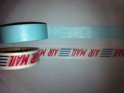 Masking tape airmail 15mm p/5m wit