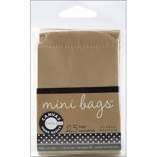 Mini Gift Bags 6.7x8.3cm p/25st kraft