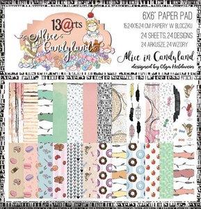 Paper pad Alice in Candyland 15x15cm p/24vel