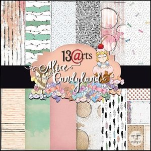 Paper pad Alice in Candyland by Olga Heldwein 30.5x30.5cm p/6vel