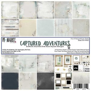 Paper pad captured adventures 15x15cm p/16vel