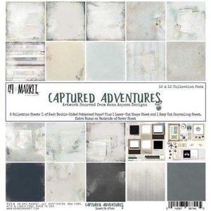 Paper pad captured adventures 30.5x30.5cm p/set