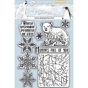 Stamperia Natural Rubber Stamp Arctic Antarctic Moments Full of You (WTKCC179 ) 0