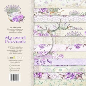 Paper pad My Sweet Provence 15x15cm p/24vel