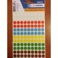 Stickers fluor 8 mm inhoud 540 stuks diverse kleuren