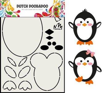 Card Art Built up Pinguin A5 p/st