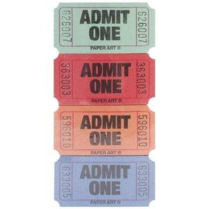 Admit tickets 2.5x5.5cm oranje p/30st