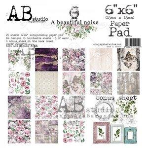 Paper pad A beautiful noise 15x15cm p/25vel