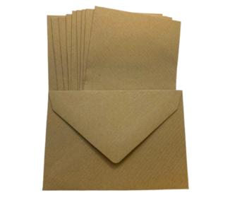 Envelop klein 7x10cm p/10st kraft