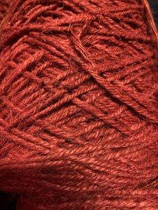 Jute rood p/25mtr 3.5mm flaxkoord