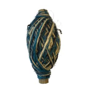 Jute Tricolor 1mm blauw/creme/turquoise p/50m flaxkoord