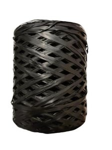 Raffia zwart bol p/200mtr
