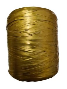 Raffia goud bol p/200mtr